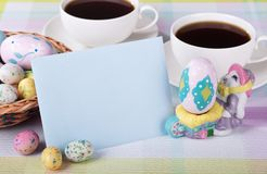 Easter Candy and Envelope Stock Images