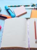 Closeup of blank notebook Stock Image