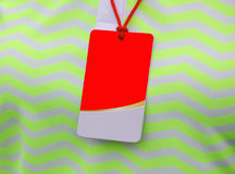Closeup blank staff name tag on duty staff in golf tournament. Royalty Free Stock Image