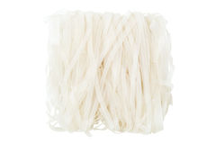Closeup of block of dried rice noodles Stock Photo