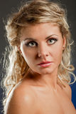 Closeup blonde woiman face Royalty Free Stock Photography