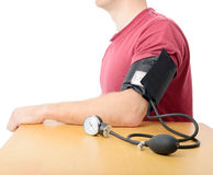 Closeup of blood pressure Royalty Free Stock Photos