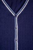 Closeup of blue cardigan Stock Image