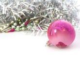 Closeup of blue Christmas balls Stock Photos