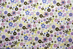 Closeup of blue cotton fabric Royalty Free Stock Images