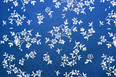 Closeup of blue cotton fabric Royalty Free Stock Image