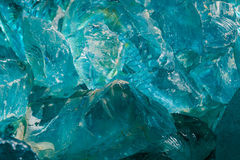 Abstract Closeup of Blue Glass Stock Photo