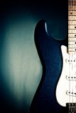 Closeup Blue Guitar Royalty Free Stock Photo