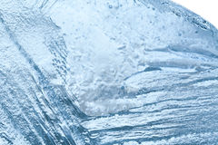 Closeup of blue ice background. cold storage concept. soft focus Royalty Free Stock Image