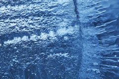 Closeup of blue ice background. cold storage concept. soft focus. Royalty Free Stock Photography