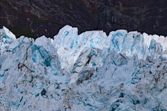 Closeup blue ice of Margerie glacier Royalty Free Stock Photography