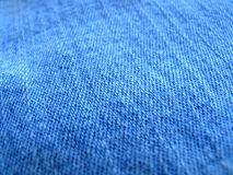 Closeup of blue jeans background Royalty Free Stock Photography