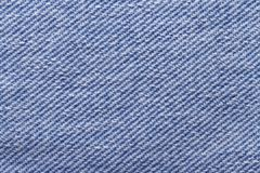 Closeup of blue jeans fabric texture Stock Photography