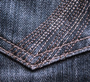 Closeup of blue  jeans texture Royalty Free Stock Photo