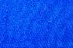 Closeup blue microfiber cloth Royalty Free Stock Images
