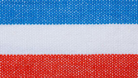 Closeup of blue red white striped textile as background or texture Royalty Free Stock Photos