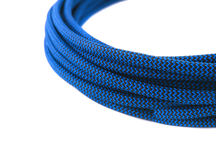 Closeup of blue rope stock images