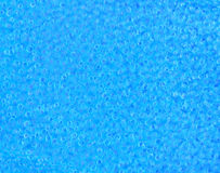 Closeup blue rubber background texture with many air bubbles Stock Photography