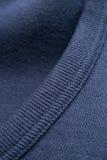 Closeup of Blue Shirt Collar Royalty Free Stock Photos