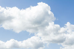 Closeup of blue sky with white clouds Royalty Free Stock Image