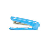 Closeup blue stapler , office equipment isolated on white background with clipping path Stock Photo
