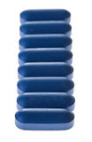 Closeup of Blue Tablets in a row Royalty Free Stock Photography
