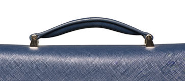 Closeup of blue textured leather handbag handle Royalty Free Stock Photography