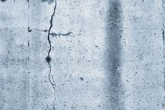 Blue concrete wall. Closeup of blue textured wall Royalty Free Stock Photography
