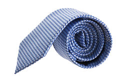 Closeup of blue tie on spyral Stock Photos