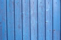 A closeup of blue wooden fence as background. Closeup of blue wooden fence as background royalty free stock photos