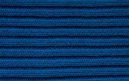 Closeup on blue wool fabric Royalty Free Stock Photos