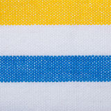 Closeup of blue yellow striped textile as background or texture Stock Photo