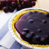 Closeup blueberry cake. Closeup blueberry cheese tart royalty free stock photo