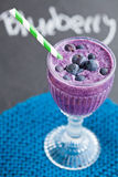 Blueberry milk smoothie Royalty Free Stock Photo