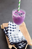 Blueberry milk smoothie Stock Image