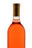 Closeup Blush Wine Bottle Stock Photo