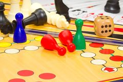 Closeup of board games Royalty Free Stock Image