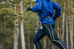 Closeup of body male athlete Stock Photo