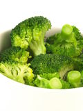 Broccoli, closeup, isolated Stock Photography