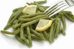Closeup boiled green beans Royalty Free Stock Image