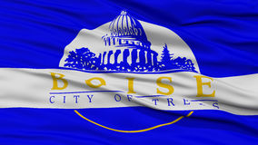 Closeup Boise Flag. Capital of Idaho State, Flying in the Wind Royalty Free Stock Image