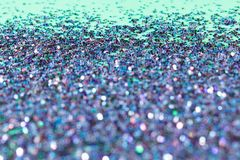 Bokeh Glitter Background with multicolors. Closeup bokeh front with focused in background in red, green, blue, purple, and red glitter useful for abstract Royalty Free Stock Photography