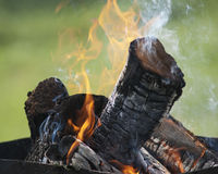 Closeup of bonfire Stock Photos