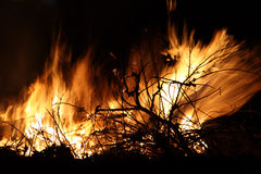 Closeup of an Bonfire Stock Photography