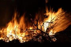 Closeup of an Bonfire. A large bonfire during time Stock Photography