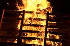 Closeup  bonfire at Jewish holiday of Lag Baomer Royalty Free Stock Image