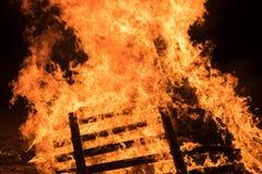 Closeup  bonfire at Jewish holiday of Lag Baomer Royalty Free Stock Photos