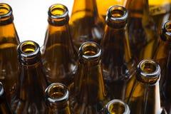 Closeup bottle of beer Stock Photo