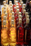 Closeup of bottles of wine with cork Royalty Free Stock Photos