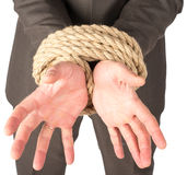 Closeup of bound hands Stock Image